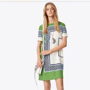 Tory Burch Mallory Color block Shift Dress
